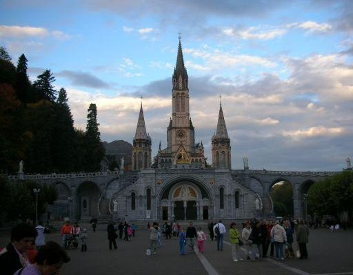 Notre Dame Sanctuary in Lourdes, France