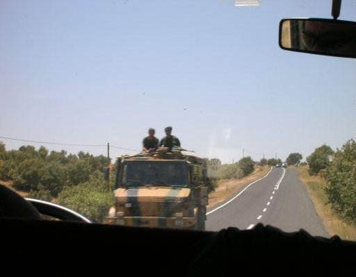 Iranian troups close to the Turkish border, Diyarbakir Turkey