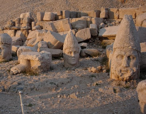 The statues of Nemrut Dogi, Turkey, Diyarbakir Turkey