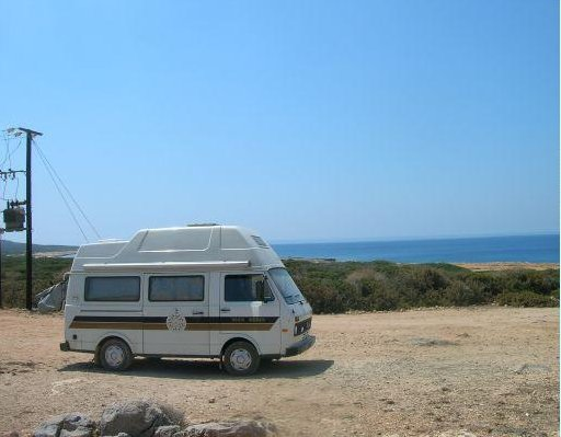 Famagusta Cyprus Our camper for the road trip