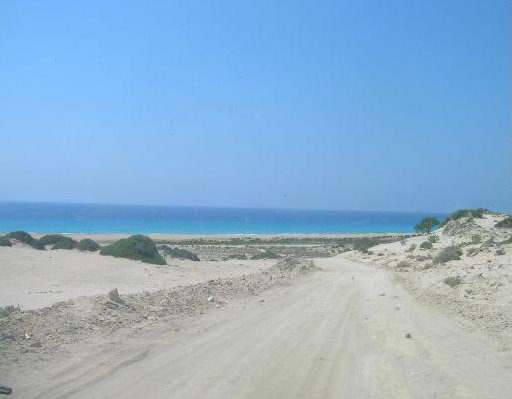 Unsealed roads in Karpazia, Famagusta Cyprus