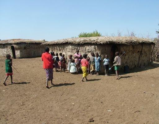 Kenyan Masai village, Kenya