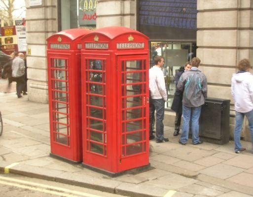 London United Kingdom London phone booths