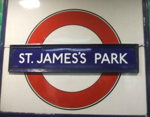 Metro station St. James's Park, London United Kingdom