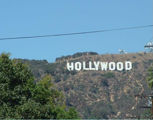 Hollywood letters in the hills, United States