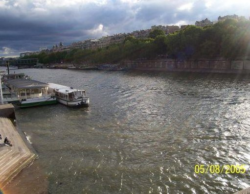 The River Seine in Paris, Paris France