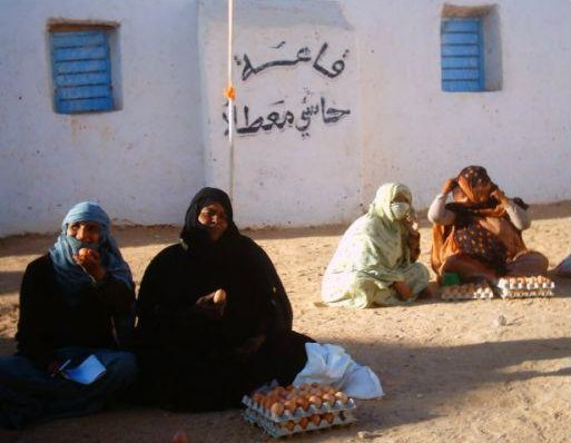 Algerian women selling eggs, Algeria