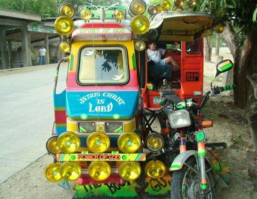 Cebu Island Philippines Traditional taxi in Moalboal