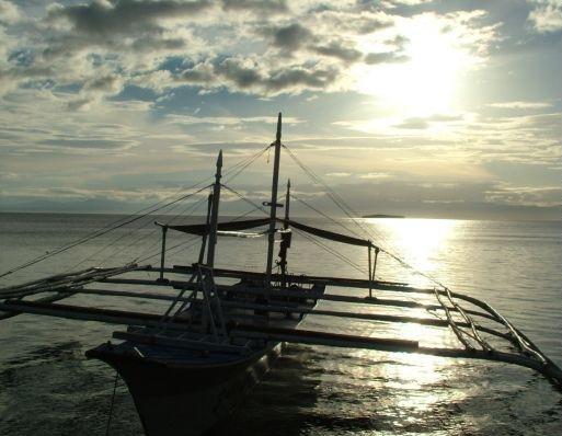 Ship wreck on Cebu Island, Philippines