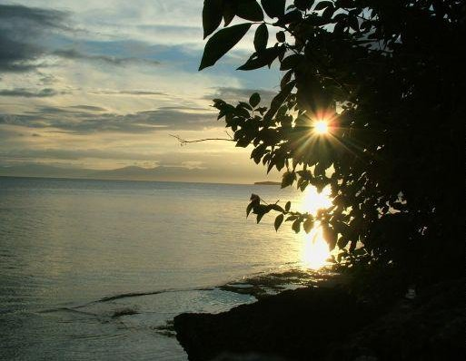 Cebu Island Philippines Sunset over Cebu Island