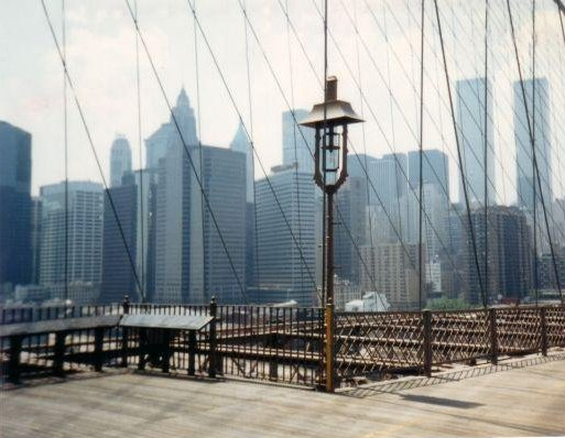 Twin Towers from the Brooklyn Bridge, New York United States