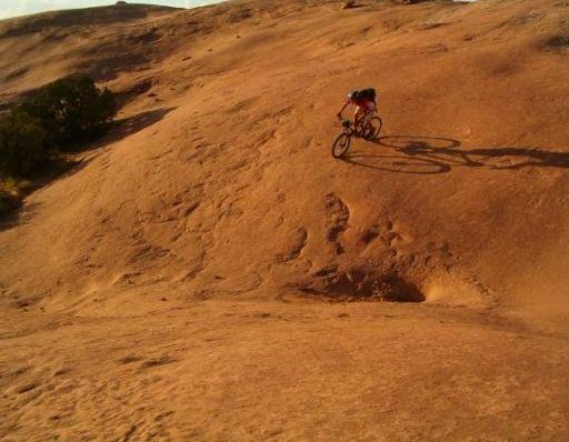 Mountainbiking in Moab, Utah, United States