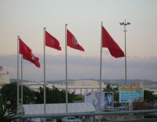 Tunisian flag, Djerba Tunisia