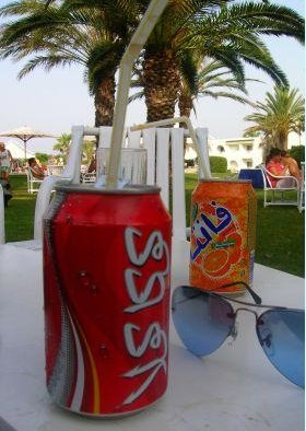 A drink on the beach, Tunisia