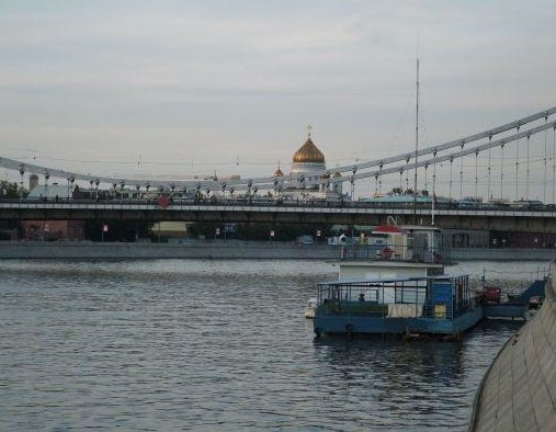 Moscow River and Saviour Church, Poland