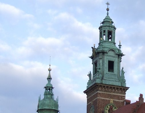 Towers of the Wawel Castle, Poland