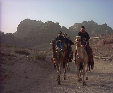 Camel ride to Petra, Jordan, Petra Jordan