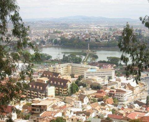 View of Antananarivo in Madagascar, Antananarivo Madagascar