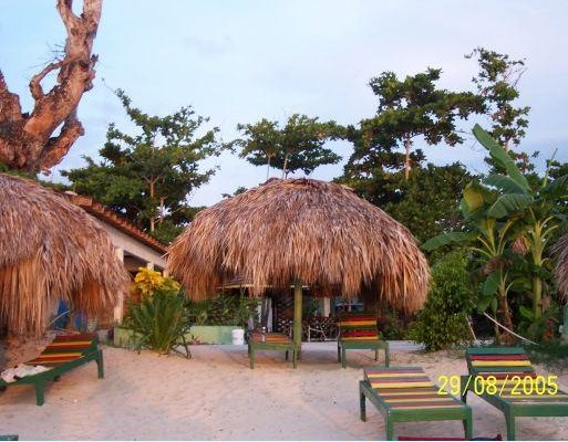 Great beach bar in Negril, Jamaica