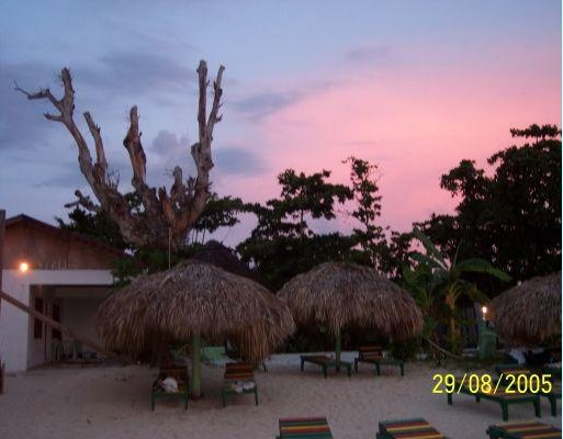 Negril Jamaica Pink Jamaican sunsets around 6 pm!