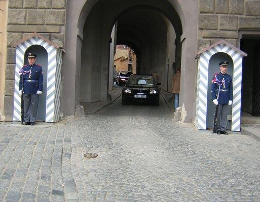Prague Czech Republic Guards at the Prague Castle