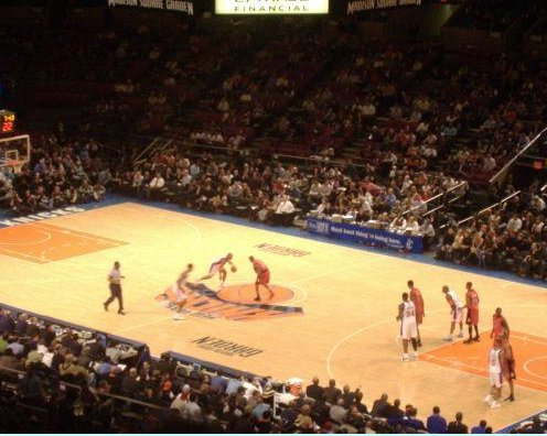 NBA game in New York, United States