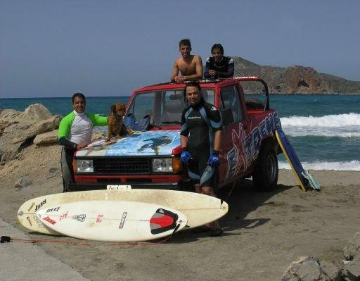 Surfing in Creta, Greece Crete