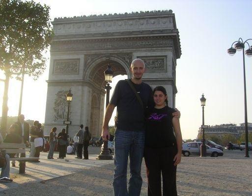 Paris France The Arc du Triomphe in Paris