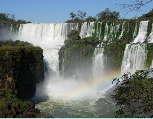 Rainbow at the Iguazu Waterfalls, Brazil