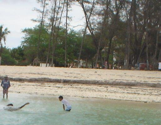 Local kids playing around, Malindi Kenya