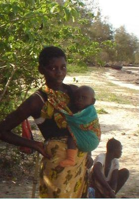 Kenyan woman with her child, Kenya