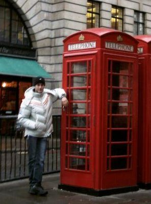 Traditional English phone booth, London United Kingdom