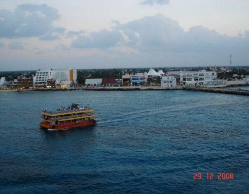 Ferry ride to the main land, Isla Cozumel Mexico