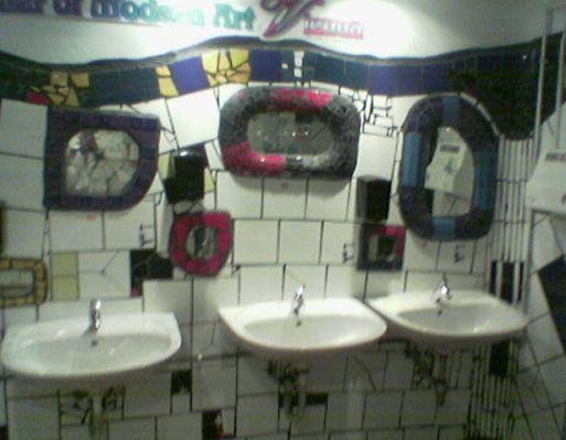 Trendy toilets in Vienna, Austria