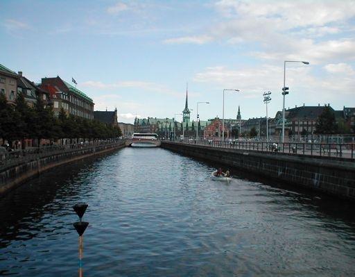 Christianshavns Canal in Copenhagen, Denmark, Denmark