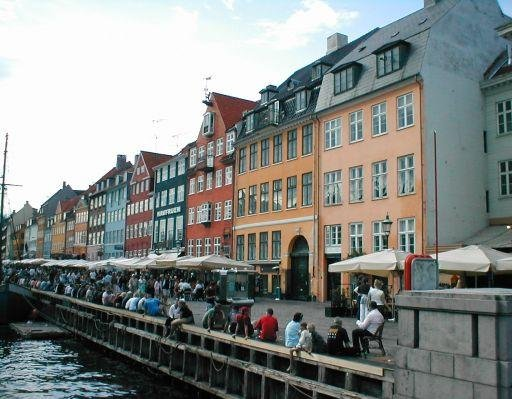 Photos of the Nyhavn waterfront in Denmark, Denmark