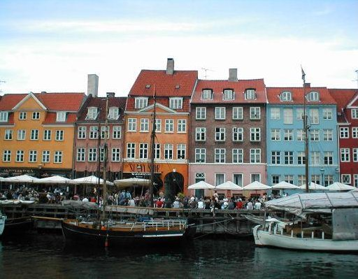Nyhavn district in Copenhagen, Copenhagen Denmark