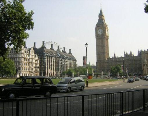 Panorama of the Big Ben in London, London United Kingdom