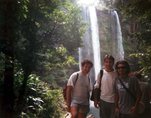 At the Misol-Ha Waterfalls., Mexico