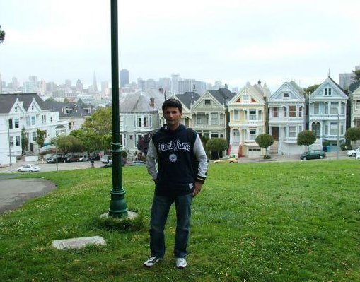 Alamo Square Park Row in San Francisco., United States