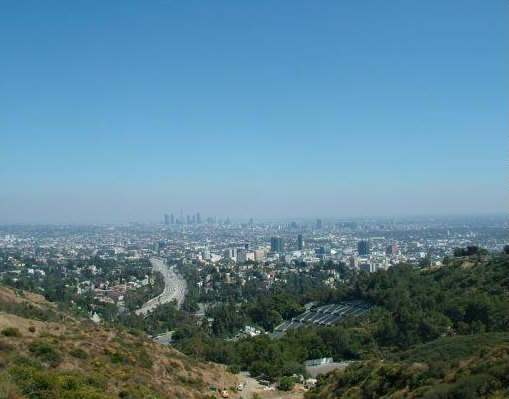 New Orleans United States L.A. from Mulholland Drive, California.