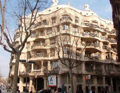 The house of Gaudi, Barcelona., Barcelona Spain
