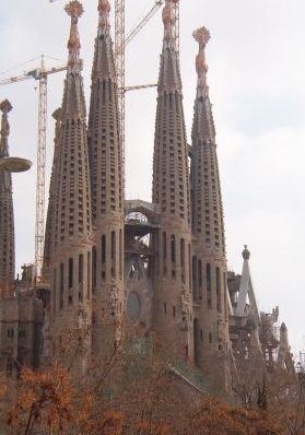 La Sagrada Familia in Barcelona., Barcelona Spain