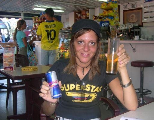 Lloret de Mar Spain In need of some Red Bull.