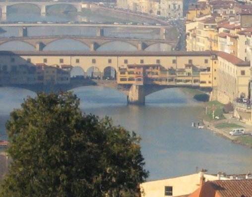 Florence Italy The Arno river in Florence, Italy.