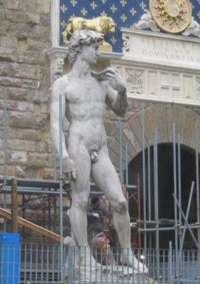 Photos of Michelangelo's David., Florence Italy