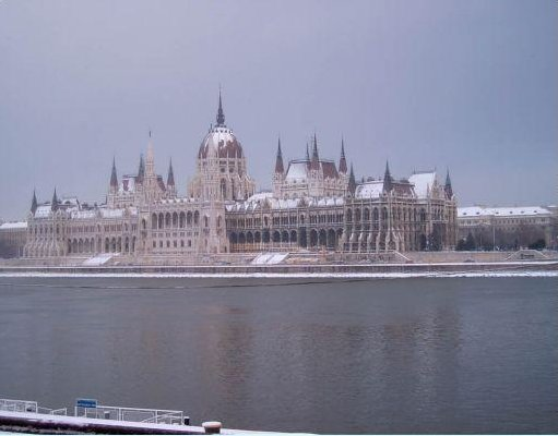 Photos of the Parliament Building in Budapest., Hungary