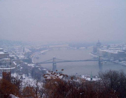 Budapest Hungary Bridges over the river Danube.