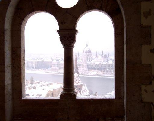View from Fishermen's Bastion, Budapest., Hungary
