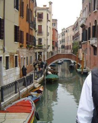 Photo from the gondola, Venice, Italy